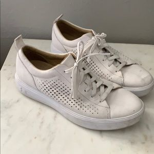 Under Armour White Lace Up Sneakers